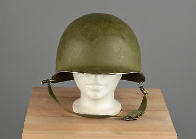 Vtg. 40s WWII War US Army M-1 Front Seam Helmet Shell  #699 WW2 1940s