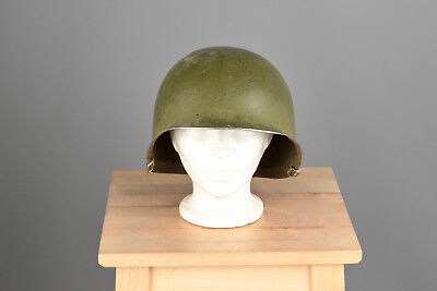 Vtg. WWII US Army M-1 Front Seam Helmet Shell #715 WW2