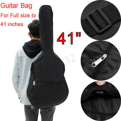 41 Inches Guitar Double Straps Padded Guitar Soft Case Gig Bag Backpack Black
