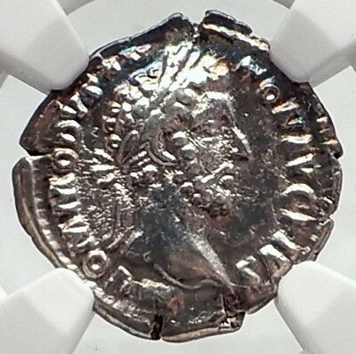 COMMODUS Authentic Ancient 183AD Rome Silver Roman Coin PAX PEACE NGC i73021