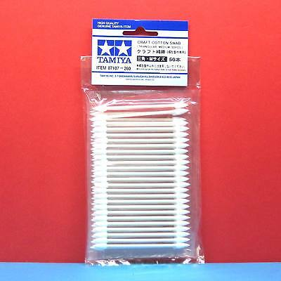 Tamiya #87107 Craft Cotton Swab (Triangular, Medium, 50pcs) i