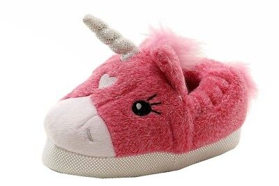 Stride Rite Toddler Girl's Plush Pink Unicorn Light Up Slippers Shoes