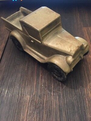 1974 Banthrico Chicago Cast Metal Coin Bank 1928 Chevy Pick Up