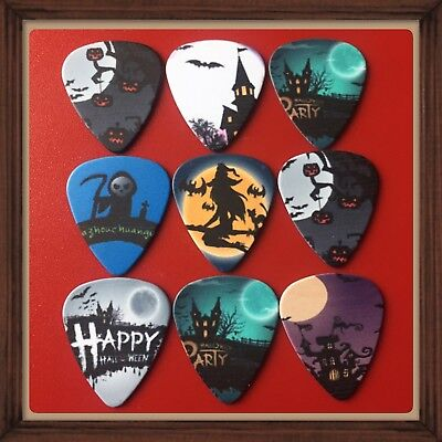 Lot Of 9 Double Sided 🎸Halloween 🎸  Guitar Picks Brand New #2