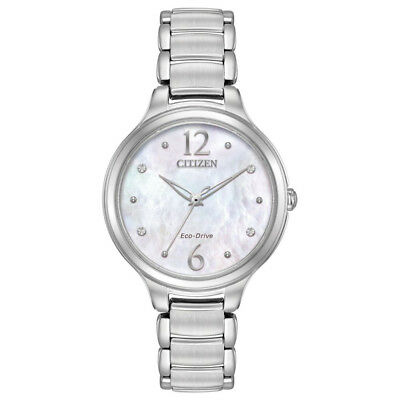 Citizen L Womens Eco Drive Quartz Solar Light Powered Watch Wristwatch, Silver