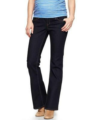 Nwt Gap Maternity Full Panel Sexy Boot Cut Dark Jeans 2 Ankle / 26 Short