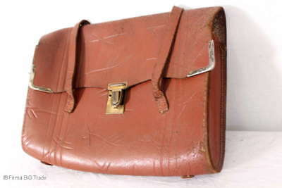 Antike Schultasche / Ledertasche / Schulranzen / Antique School leather Bag