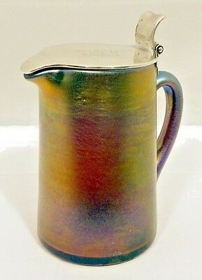 A sterling silver mounted Favrile glass pitcher, Tiffany & Co, New York c.1917-4