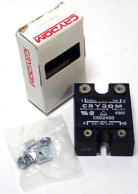 Tested! Crydom Csd2450 Solid State Relay Ssr Output 240V 50A Input 3.5-15V