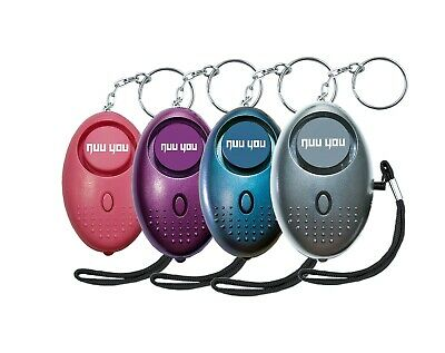 Personal Alarm keychain for WOMEN/KIDS siren 140 DB LOUD & LED light (4 PACK)