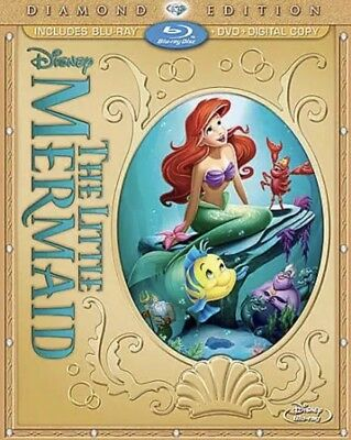 The Little Mermaid Blu-ray+Digital+DVD, 2013, 2-Disc Diamond Edition Disney NEW