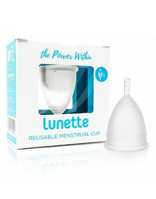 Lunette Menstrual Cup Clear Size 2 FREE SHIPPING Made in USA