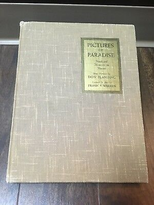 Rare Antique 1936 2nd Print Pictures Of Paradise Hawaii Art Photos Signed Book
