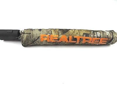 Realtree black with orange logo UMBRELLA compact camo golf hunting rain