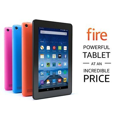 """New Amazon Fire 7 Tablet with Alexa, 7"""" Display, 8 GB, Black Special Offers"""