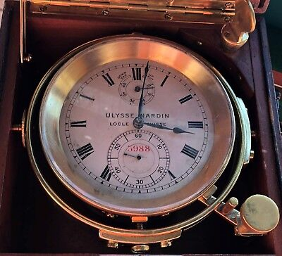 Ulysse Nardin Old Marine Chronometer load manual all original number 3988