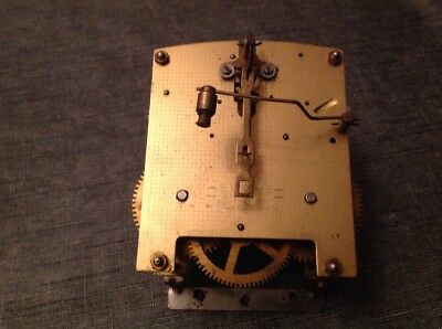 Antique Smiths Enfield Clock Movement Chiming Chime 11x11cm Spare Parts