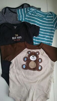 Carters Garanimals lot of 4 Bodysuits short sleeves infant Boy 18 months Soft
