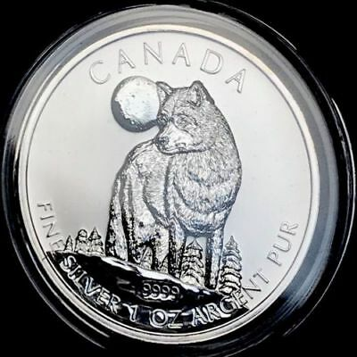 2011 Canada Timber Wolf Maple Canadian Wildlife Series 1 oz .9999 Silver BU Coin