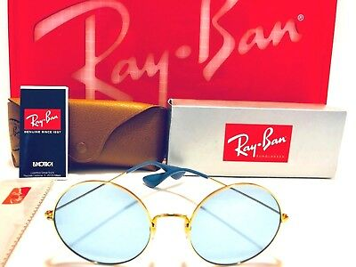 3e3d1929ba1 RAY BAN JA-JO Sunglasses RB3592 001 F7 Gold w  Light Blue Classic ...