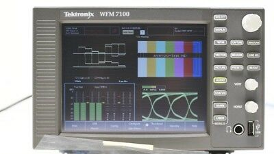 Tektronix WFM 7100 Waveform Monitor OPT: CPS SD HD DAT EYE PHY DS AD 100