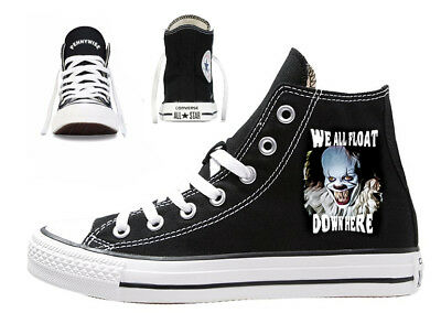 pennywise custom converse all star mens womens you'll float too clown horror