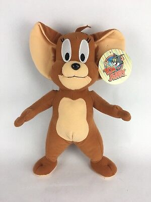 """Tom & Jerry Mouse Cartoon Plush Doll Toy Factory 13"""" Stuffed Animal NEW"""