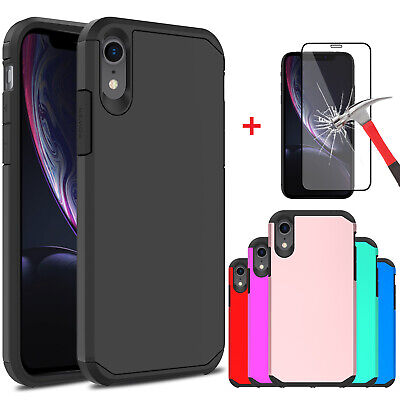 For Apple iPhone XR Shockproof Armor Protective Case Cover With Screen Protector