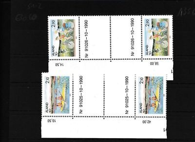 Finland - Aland 51-52 MNH catwalk pairs with date