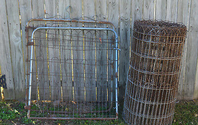 Old Fashioned Vintage Double Loop Roll Top Fencing 80 Feet