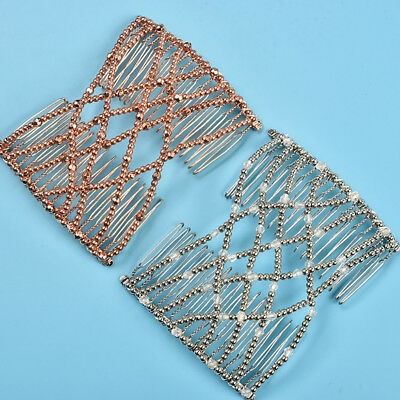 Women Magic Beading Stretching Hair Comb Hairpin Headwear Styling Accessories US