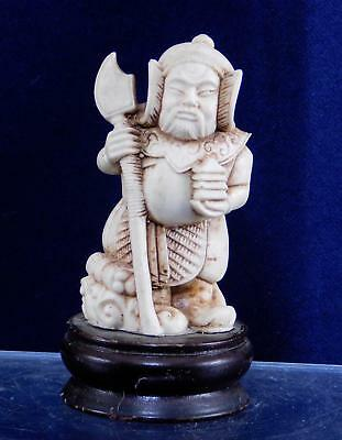 Vintage  Asian Carved Okimono Netsuke Ancient Warriors Statue Figurine