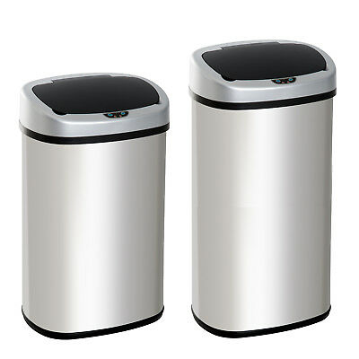 Sensor Dustbin Touchless Trash Can Automatic Garbage Bin Stainless Steel