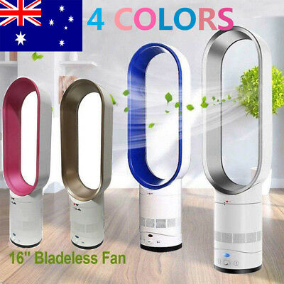 """AU 16"""" Bladeless Fan With Remote Control AirFlow Cooling Low db Home Office"""