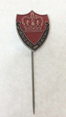 2/-  Australia Anzac Day Appeal Red Badge Pin
