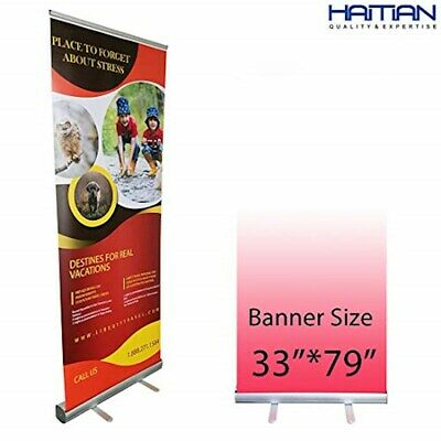 Haitian Retractable Banner Stand, Roll up Banner Stand 33 x 79 for Trade Show,