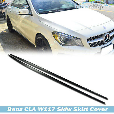RED For Mercedes Benz C117 W117 Extension Side Skirts Cover CLA200 CLA250