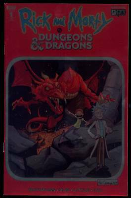 Rick And Morty Vs Dungeons & Dragons #1 Red Chromium Foil Cormack Variant