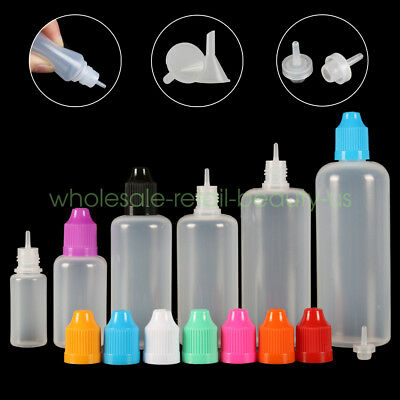 3ml-120ml LDPE Empty Squeeze Dropper Juice Eye Liquid Bottle with Plastic Funnel