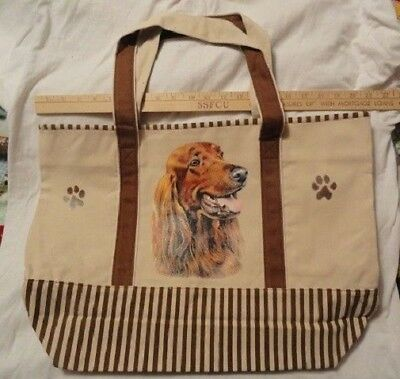Irish Setter Large Canvas Tote Bag