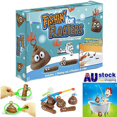 Fishin For Floaters Bath Time Tub Game Fishing Family Game Fun Toy Au