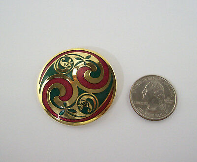 Irish Celtic SEA GEMS Signed Brooch Pin
