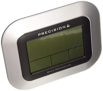 Precision PREC0102 Case LCD Wall Mountable/Desk Clock, Silver