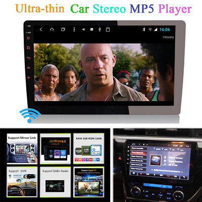 "Ultra-thin Android 8.0 9"" Car Stereo Radio Player GPS Octa-Core OBD DAB DVB DVR"
