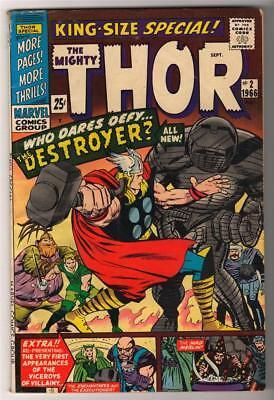 Marvel Comics VG+ 4.5 Annual king superhero THOR #2 Destroyer Journey mystery