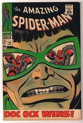 MARVEL Comics  VFN- 7.0 SPIDERMAN SILVER age #55  DR OCTPOUS 1968 AMAZING
