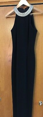 Alex Evenings Classic Long Evening Dress Black Party Prom Ball J40101