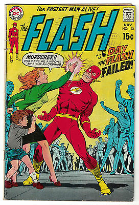 DC Comics THE FLASH Issue 192 The Day The Flash Failed! VG+
