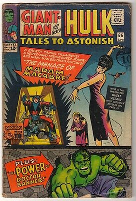 Marvel TALES TO ASTONISH 66 HULK ANT-MAN Pym GIANT MAN AVENGERS VG