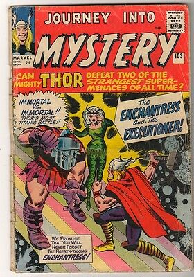 Marvel Comics GVG THOR #103  Journey into mystery  KIRBY 1ST ENCHANTRESS